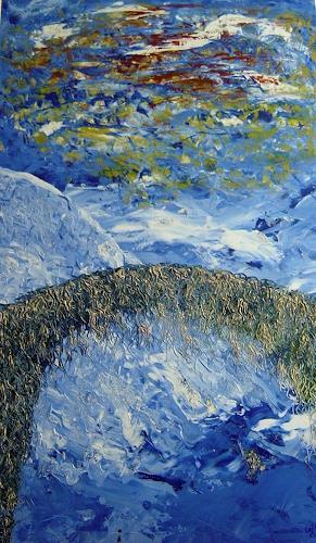 waldraut hool-wolf, azzurro, Abstraktes, Fantasie, Neo-Expressionismus