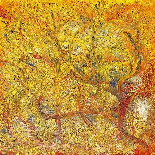 waldraut hool-wolf, rossa fantasie, Abstraktes, Abstraktes, Neo-Expressionismus