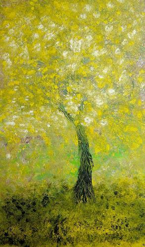 waldraut hool-wolf, verdechiaro albero, Bewegung, Abstraktes, Neo-Expressionismus