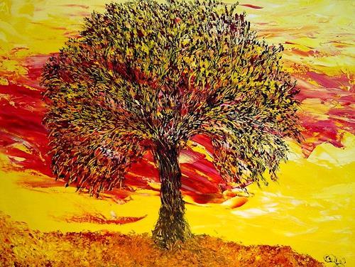 waldraut hool-wolf, nero verde albero, Abstraktes, Fantasie, Neo-Expressionismus