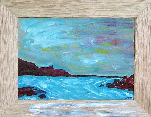 waldraut hool-wolf, aqua sorrente, Landschaft: See/Meer, Fantasie, Neo-Expressionismus