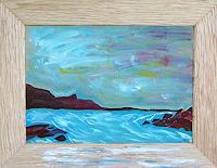 waldraut-hool-wolf-Landschaft-See-Meer-Fantasie-Gegenwartskunst--Neo-Expressionismus