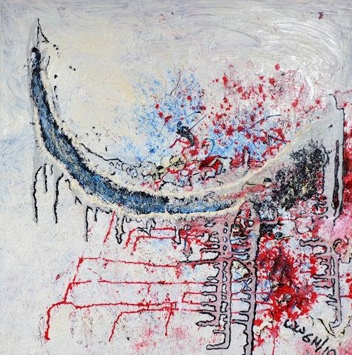 waldraut hool-wolf, dein weg *6N*, Abstraktes, Abstraktes, Abstrakte Kunst