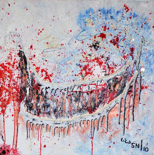 waldraut hool-wolf, Der Wächter *5N*, Abstraktes, Abstraktes, Abstrakte Kunst