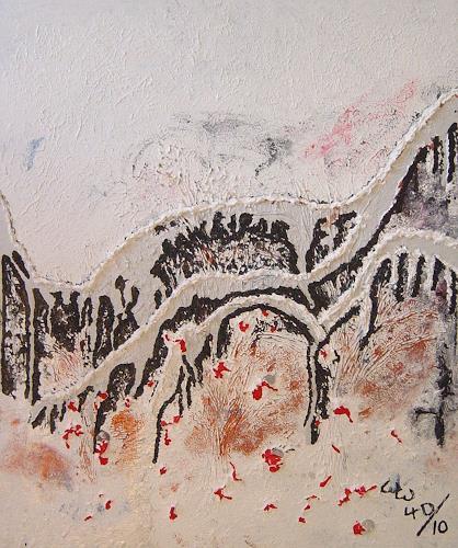 waldraut hool-wolf, Die Brücke *4D*, Abstraktes, Abstraktes, Abstrakte Kunst