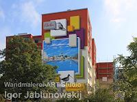 Wandmaler-Bauten-Hochhaus-Diverses-Moderne-Kunst-am-Bau
