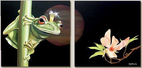 Wandmaler, Froschkönig, Diverse Wohnen, Diverse Tiere, Fotorealismus