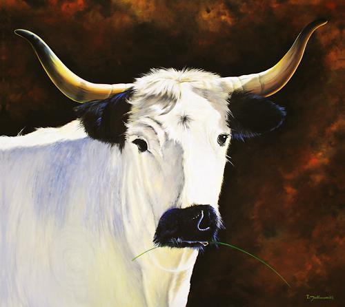 Wandmaler, Dere Gehörnte, Natur: Diverse, Tiere: Land, Realismus, Expressionismus