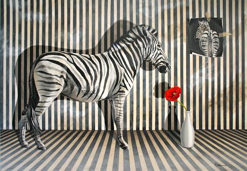Wandmaler, Das Zebra, Tiere: Land, Situationen, Realismus