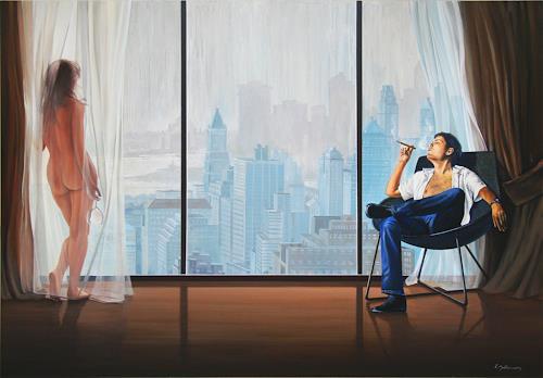 Wandmaler, Die Muse, Diverse Erotik, Dekoratives, Fotorealismus, Expressionismus
