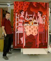 raphael-perez-Menschen-Familie-Menschen-Paare-Gegenwartskunst--New-Image-Painting