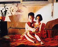 r. perez, man woman relationship paintings couple love hugging oil painting