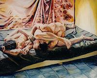 raphael-perez-Menschen-Paare-Gefuehle-Liebe-Gegenwartskunst--Neo-Expressionismus