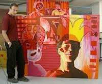 raphael-perez-Menschen-Gesichter-Moderne-Naive-Kunst