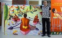 raphael-perez-Gefuehle-Freude-Menschen-Gruppe-Moderne-Naive-Kunst