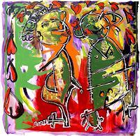 raphael-perez-Menschen-Paare-Gegenwartskunst--Neo-Expressionismus