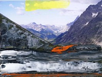Martina-Russmann-Landschaft-Berge-Abstraktes-Gegenwartskunst-Gegenwartskunst