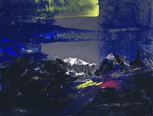 Martina Rußmann, Montblanc, Landschaft: Berge, Abstraktes, Gegenwartskunst, Abstrakter Expressionismus