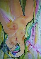 Helga-Sachse-Akt-Erotik-Akt-Frau-Menschen-Frau-Moderne-Abstrakte-Kunst