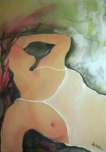 Helga Sachse, sechsuhrfünf, Akt/Erotik: Akt Frau, Gegenwartskunst, Expressionismus