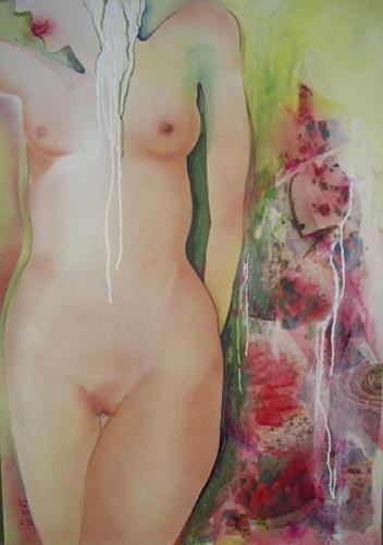 Helga Sachse, Parfait, Akt/Erotik: Akt Frau, Essen, Abstrakter Expressionismus