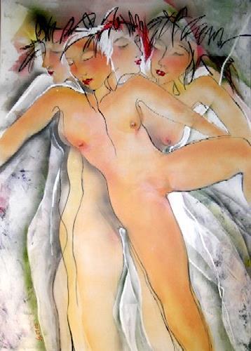 Helga Sachse, RosmarinEis, Akt/Erotik: Akt Frau, Gegenwartskunst, Abstrakter Expressionismus