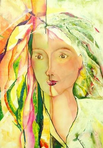 Helga Sachse, Tagtraum, Menschen: Frau, Menschen: Gesichter