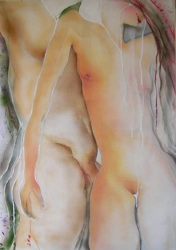 Helga Sachse, Lamm in Absinth, Akt/Erotik: Akt Frau, Diverse Erotik, Expressionismus