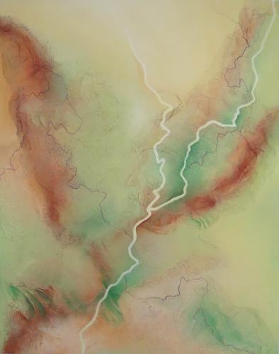 Beate Biebricher, Kontinente, Abstraktes, Fantasie, Gegenwartskunst
