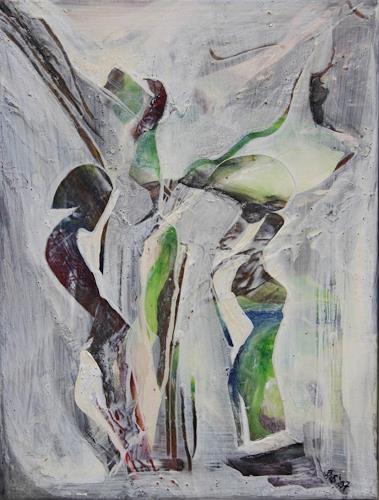 Beate Biebricher, Afrikanische Impression, Abstraktes, Fantasie, Gegenwartskunst