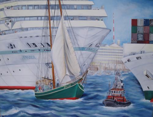 Beate Biebricher, Schiffe, Verkehr: Schiff, Industrie, Gegenwartskunst