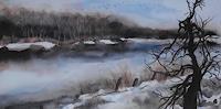 Beate-Biebricher-Landschaft-Winter-Landschaft-See-Meer-Gegenwartskunst-Gegenwartskunst