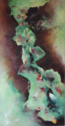 Beate Biebricher, Herbstimpression, Abstraktes, Landschaft: Herbst, Gegenwartskunst