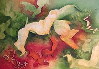 Beate-Biebricher-Abstraktes-Tiere-Land-Gegenwartskunst--Gegenwartskunst-