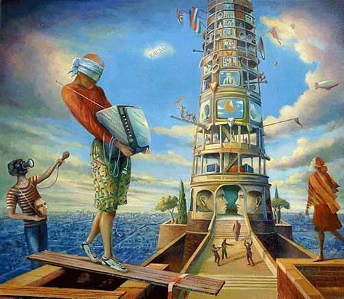 Cornelius Fraenkel, Kommunikationsvorsprung, Skurril, Symbol, Postsurrealismus, Expressionismus