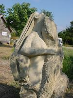 P. Krüger, Frau mit Reptil