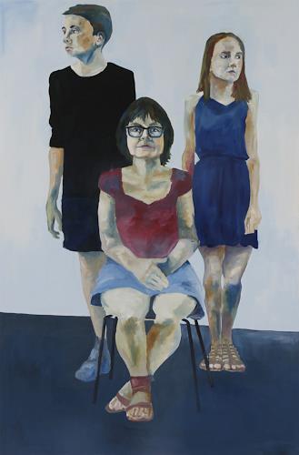 Peter Schmitz, Familie 1, Menschen: Familie, Menschen: Porträt, Realismus, Expressionismus