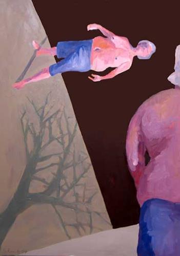 Peter Schmitz, Ich weiss nicht wo ich stehe, Architektur, Menschen: Mann, Neue Sachlichkeit, Abstrakter Expressionismus
