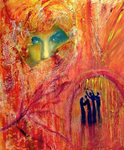 Agnes Vonhoegen, o.T., Abstraktes, Menschen: Frau, Gegenwartskunst