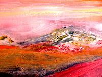 Agnes-Vonhoegen-Abstraktes-Landschaft-Berge-Gegenwartskunst--Gegenwartskunst-