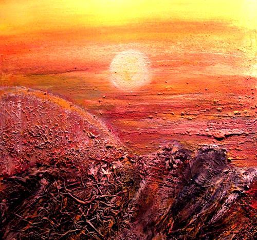 Agnes Vonhoegen, Beim Aufgang der Sonne, Abstraktes, Natur: Erde, Gegenwartskunst, Expressionismus
