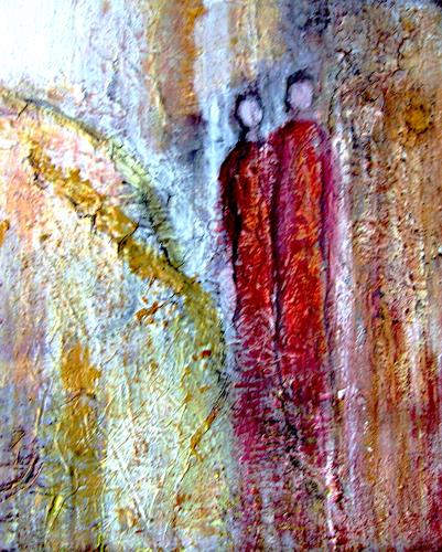 Agnes Vonhoegen, Den Weg miteinander gehen, Abstraktes, Menschen: Gruppe, Gegenwartskunst