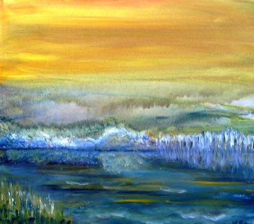 Agnes Vonhoegen, Seelandschaft, Landschaft: See/Meer, Fantasie, Gegenwartskunst