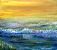 Agnes-Vonhoegen-Landschaft-See-Meer-Fantasie-Gegenwartskunst-Gegenwartskunst