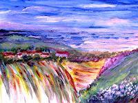 Agnes-Vonhoegen-Landschaft-Huegel-Fantasie-Gegenwartskunst-Gegenwartskunst