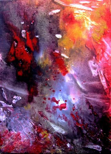 Agnes Vonhoegen, Naturstudie III, Abstraktes, Fantasie, Gegenwartskunst