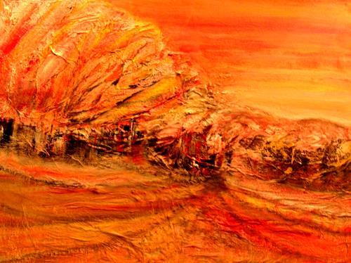 Agnes Vonhoegen, Herbstimpressionen, Landschaft: Herbst, Abstraktes, Gegenwartskunst