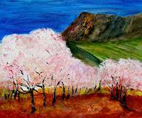Agnes-Vonhoegen-Landschaft-Fruehling-Landschaft-Berge-Gegenwartskunst-Gegenwartskunst