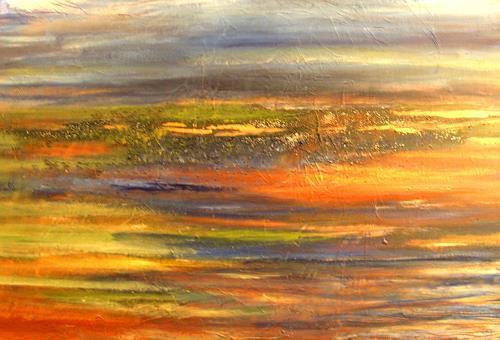 Agnes Vonhoegen, Abstrakte Landschaft, Abstraktes, Landschaft: Sommer, Gegenwartskunst