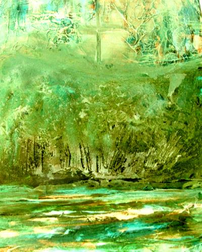 Agnes Vonhoegen, Erdachte Landschaft, Landschaft, Natur, Naturalismus, Expressionismus